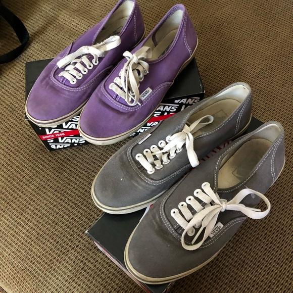 4c3970aebfbbff Vans Shoes - Gray vans and purple vans bundle